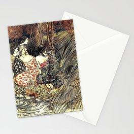 The Flowery Naiades By Arthur Rackham Stationery Cards