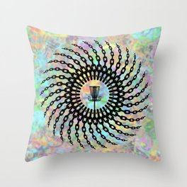 Disc Golf Basket Chains Throw Pillow