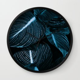 Unbridled - teal Wall Clock