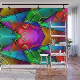 Grid of colors ... Wall Mural