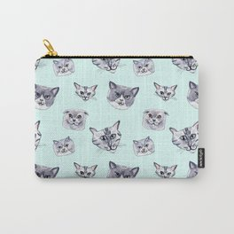 Some grey cats Carry-All Pouch