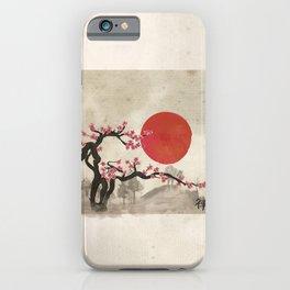 Sakura Blossom Landscape Zen hieroglyph iPhone Case