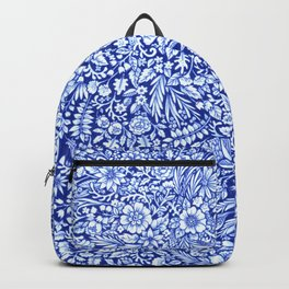 Flower Field Blue and White Backpack