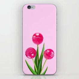 LOLLIPOP TULIPS PINK iPhone Skin