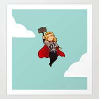 thor Art Prints featuring Thor by Suppie