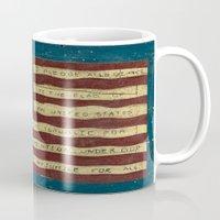 american flag Mugs featuring American Flag by Argi Univrs