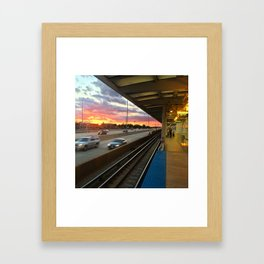 Blue Line Framed Art Print