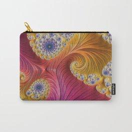 Pink Purple & Orange Swirls Carry-All Pouch