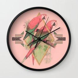 PARROT GARDEN Wall Clock
