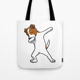 Funny Jack Russell Terrier Dabbing Tote Bag