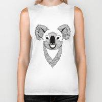koala Biker Tanks featuring Koala by Art & Be