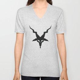 Black Metal Baphomet Unisex V-Neck