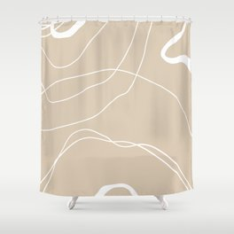 LINEE DI VITA - The lines of life - Modern abstract art hand drawn Shower Curtain