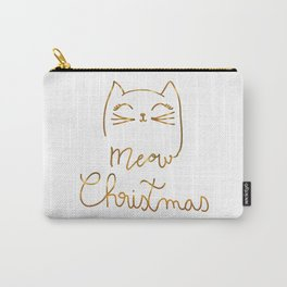 Meow Christmas- Merry Chrismtmas Carry-All Pouch