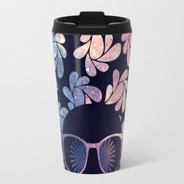 Afro Diva Mauve Teal Galaxy Travel Mug