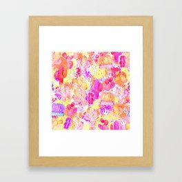 Wild Cactus Splash Framed Art Print