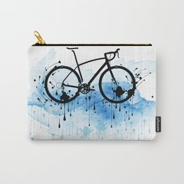 watercolor bicycle Carry-All Pouch