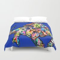 iggy Duvet Covers featuring Sunset Park Iggy by The Art of Murjani Holmes