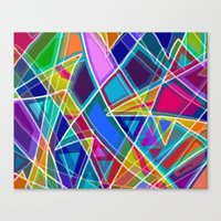stained glass Canvas Prints featuring Stained Glass by gretzky