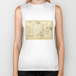Vintage Map of Thebes Egypt (1894) Biker Tank