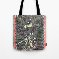unicorn Tote Bags featuring Unicorn by AKIKO