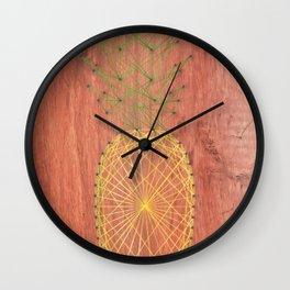 Pineapple String Art Wall Clock