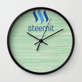 Steemit on Green Wall Clock