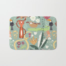Rain forest animals 001 Bath Mat