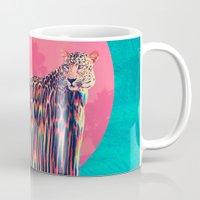 jaguar Mugs featuring Jaguar by Ali GULEC