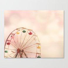 Pink Ferris Wheel Canvas Print