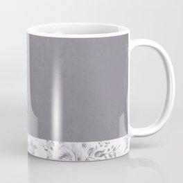 Mauve Gray Floral stripe pattern Coffee Mug