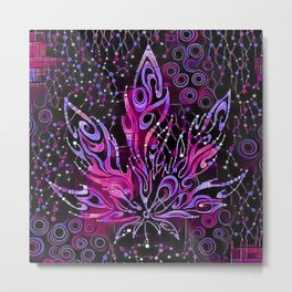 Cannabis Leaf Abstract 1a Metal Print