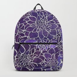 Dahlia Flower Pattern 3 Backpack