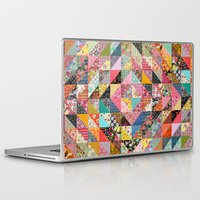 quilt Laptop & iPad Skins featuring Grandma's Quilt by Rachel Caldwell