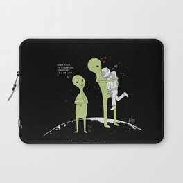 Don't talk to strangers, You might fall in love! Laptop Sleeve