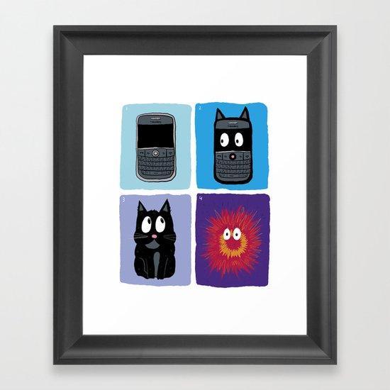 Don't Let Your BlackBerry Turn into Exploding Cats.  Framed Art Print