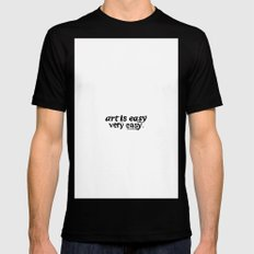 Art is easy. Black MEDIUM Mens Fitted Tee
