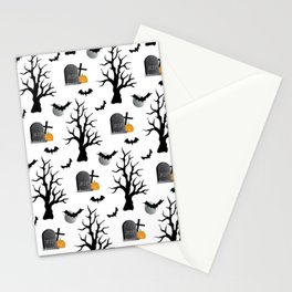Haunted Graveyard Forest Stationery Cards