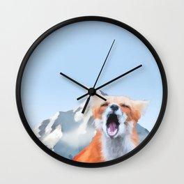 mountain fox Wall Clock