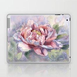 Pink Peonies Watercolor Flowers Peony Painting Floral art print Laptop & iPad Skin