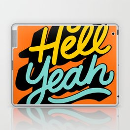 hell yeah 004 x typography Laptop & iPad Skin