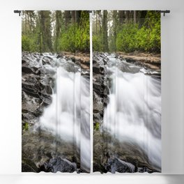 Rush - Paradise River Rushes to Falls in Mt. Rainier National Park Blackout Curtain