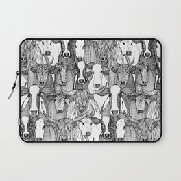 just cattle black white Laptop Sleeve