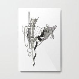 Major Arcana XI Justice Metal Print