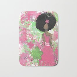 Dripping Pink and Green Angel Bath Mat