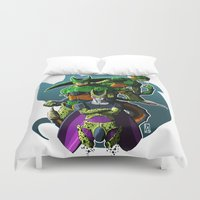dbz Duvet Covers featuring Cell by FeLipe Aquino