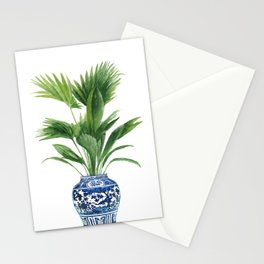 Palm leaves, ming vase Stationery Cards