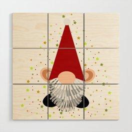 Santa - Gnome Wood Wall Art