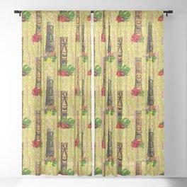 Tiki Pole Art #1 Sheer Curtain