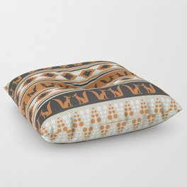 Foxes and ethnic shapes Floor Pillow